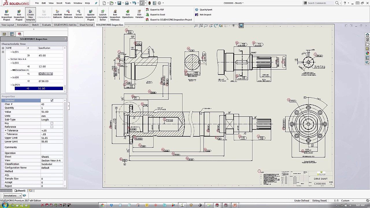 Solidworks Inspection Create Project And Report Templates Youtube