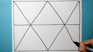 Cool Abstract Pattern / Relaxing Drawing Activity / Line Illusion / Daily Art Therapy / Day 0123