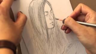 Учимся рисовать карандашом портрет поэтапно. Уроки рисования.(http://vk.com/art_metier Санкт-Петербург, ул. Белинского д.9 Тел: +7 (911) 923 73 82 Творческая мастерская
