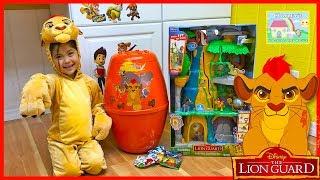 Huge Disney Junior Egg Surprise Toys Opening The Lion Guard Toy Surprises!