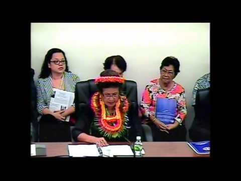 Felicidad Ogumoro- Inaugural Speech, CNMI 19th House of Representatives (01.12.15)