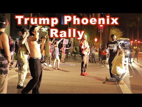 Trump Phoenix Rally and Counter Protest
