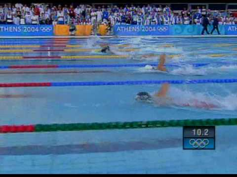 Thorpe vs Phelps (200 freestyle) athens 2004
