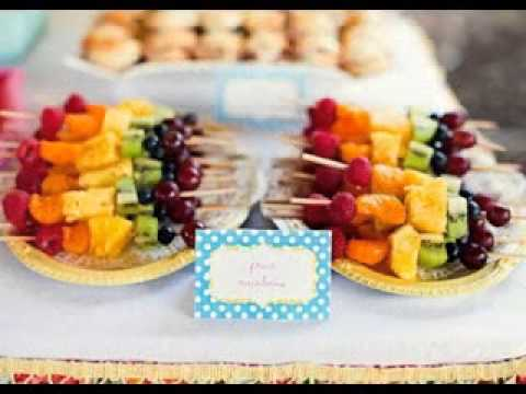 Creative Wedding reception finger food decor ideas - YouTube