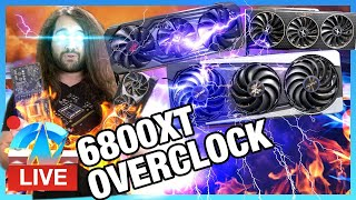 LIVE: Overclocking AMD RX 6800 XT Custom Cards (Sapphire, PowerColor, XFX)
