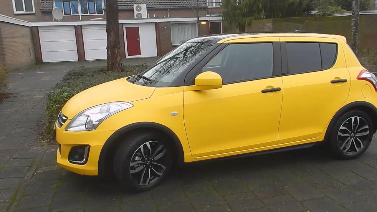 Suzuki Swift yellow matte - YouTube