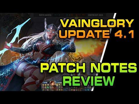 Vainglory UPDATE 4.1 BALANCE NOTE REVIEW - Hero Changes + PC Hotkey Bindings!