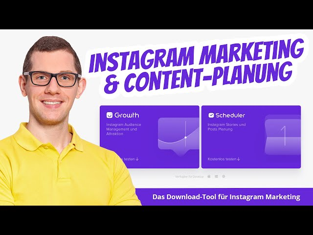 Tipp: Instagram Marketing- und Content-Planung Software 🥇 Combin Growth & Scheduler Deutsch