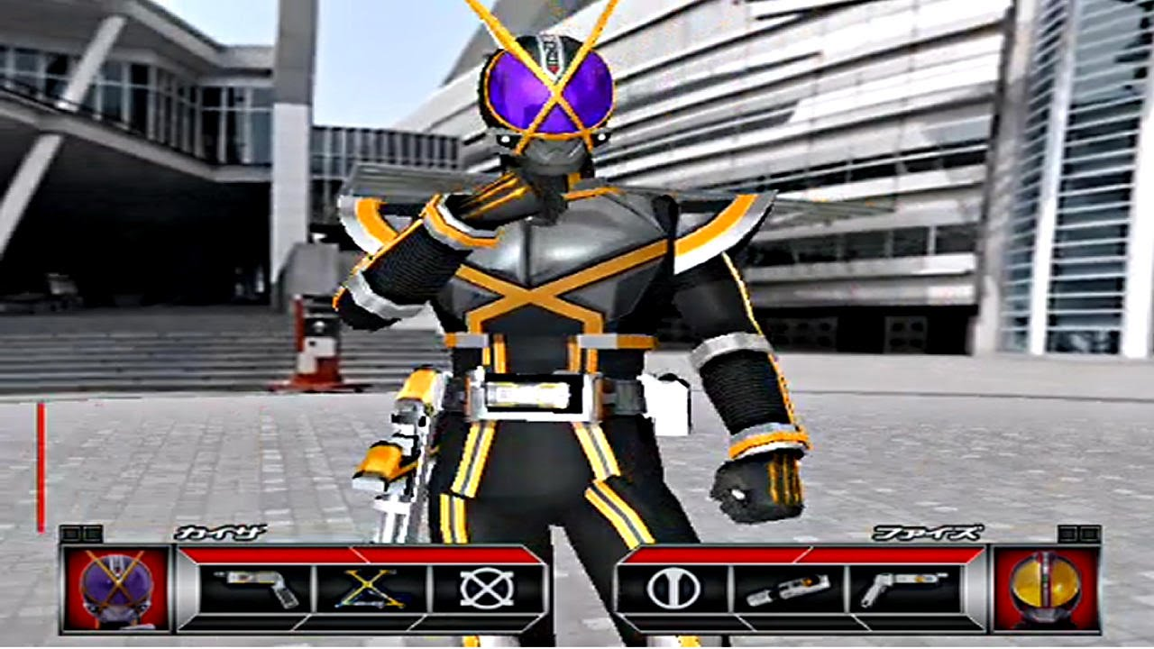 Kamen Rider 555 PS2 (Kamen Rider Kaixa) Challenge Mode Part1 - YouTube