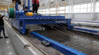 Machine system for precast concrete road