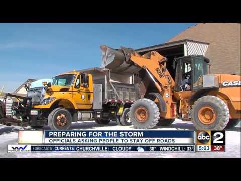 Carroll County crews prep for Tuesday's snow storm
