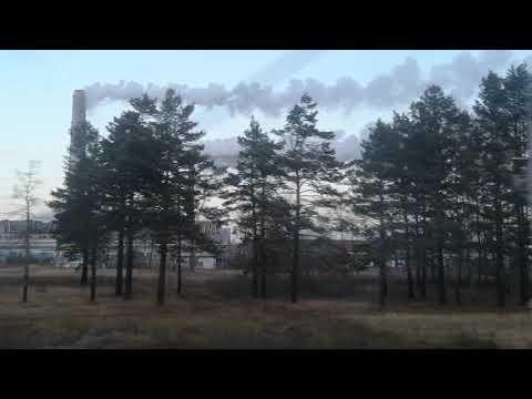 Pollusion somewhere on the railway line between Irkutsk and Krasnojarsk, autumn 2018