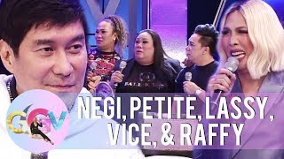 Negi, Petite, and Lassy share their complaints to Raffy | GGV