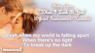 Miley Cyrus - When I Look At You [OFFICIAL Instrumental]