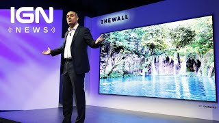 CES 2018: Samsung Debuts Giant 146-inch Modular TV - IGN News