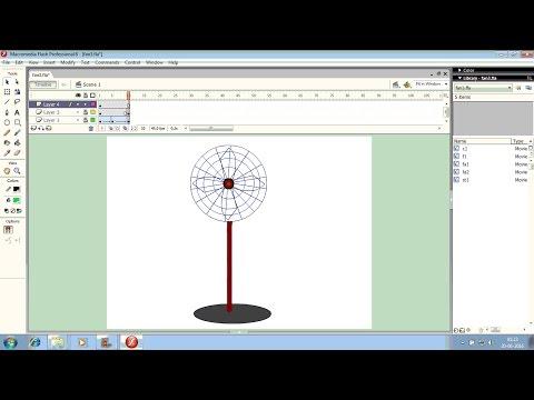 Macromedia flash 8 : Making an electric fan (full video)