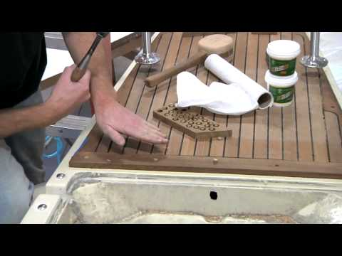 Teak Deck Fabrication and Installation Part 2