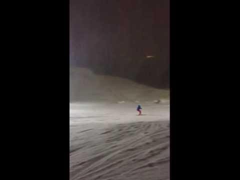 И снова я на лыжах ,только это слалом!))