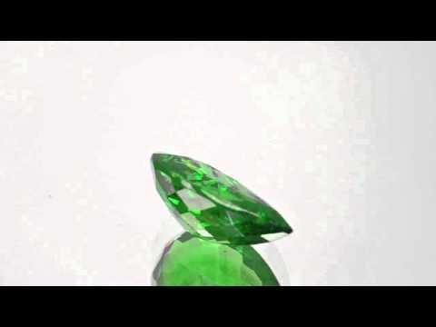 3.26-Carat Pear-Shaped Eye-Clean Deep Green Tsavorite Garnet