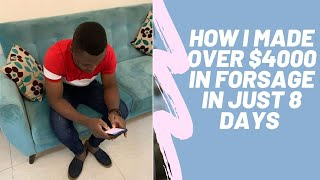 HOW I MADE  $4000 FROM FORSAGE IN JUST 8 DAYS9: WATCH TO THE END TO COPY MY STRATEGY