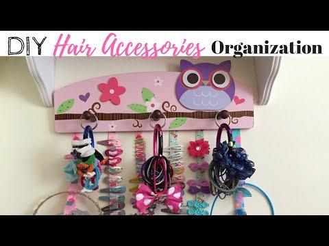 DIY GIRLS HANGING HAIR ACCESSORIES ORGANIZER | DIY & DECOR CHALLENGE