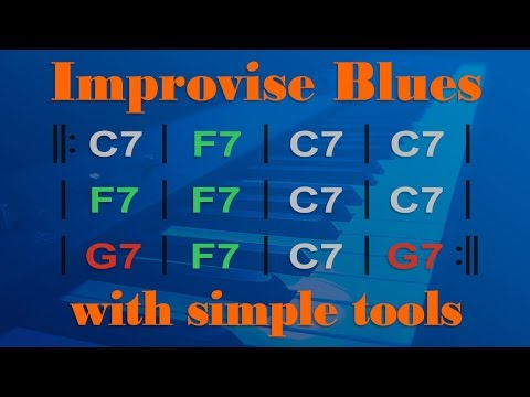 Learn Simple BLUES PIANO Improvisation