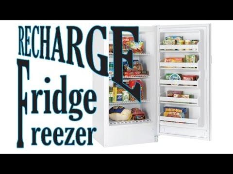 Upright Freezer repair r134a refill part 1 of 2