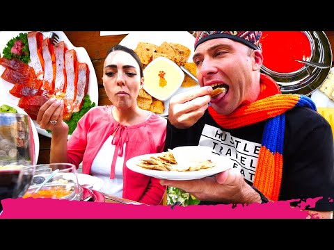 Armenian FOOD EXTRAVAGANZA - Trout, Sturgeon & Caviar + Sightseeing | Gyumri, Armenia