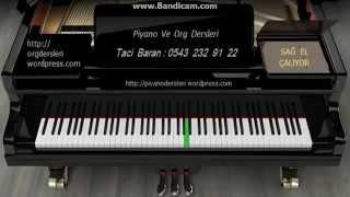 PİYANO DERSLERİ : Bach  Minuet in G    Sağ el yavaş tempo -Taci Hoca - 0543 232 91 22