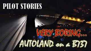 Pilot stories: Boeing 737. Night autoland. Boring :)