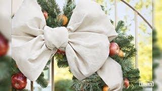 Christmas Bow Tying