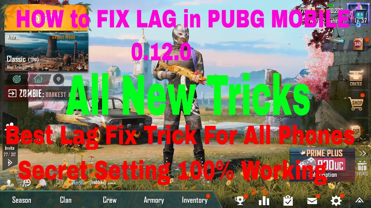 How to fix PUBG Mobile lag in 0 12 update new tricks 2019
