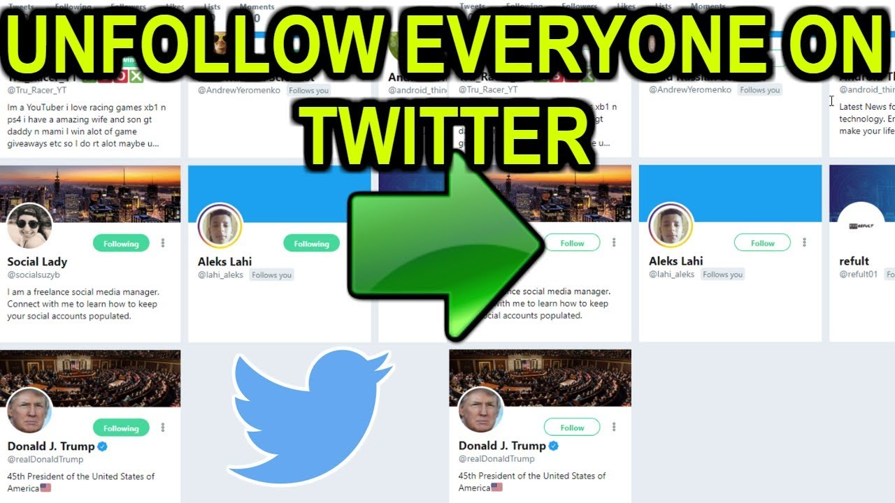 Twitter UnFollow NON Followers (Easy Tutorial 2019 Without Software)