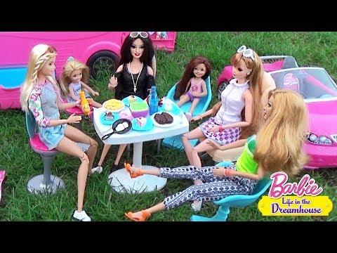 Мультик Барби Зарядка на пикнике в Автодомике Куклы для девочек Dolls ♥ Barbie Original Toys