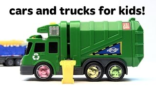 Toy Cars for Kids! Monster trucks, race cars, and dump truck toys for children and toddlers!