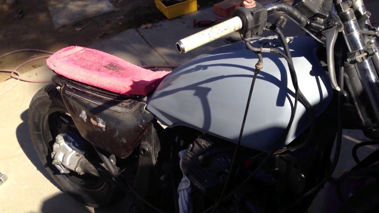 how to make a cafe racer seat 1983 honda gold wing - youtube