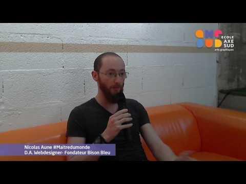 Axe Sud - Les soirées de l'orientation 25 janvier 2017 Nicolas Aune, Webdesigner