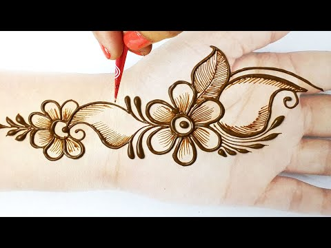 Stylish Flower Mehndi Design for Front Hand  - Shaded सूंदर मेहँदी डिज़ाइन लगाना सीखे - Beautyzing