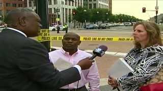 "Navy yard shooting, Black Male Witness ""He aimed his gun at us"" killed 4, injured 8"