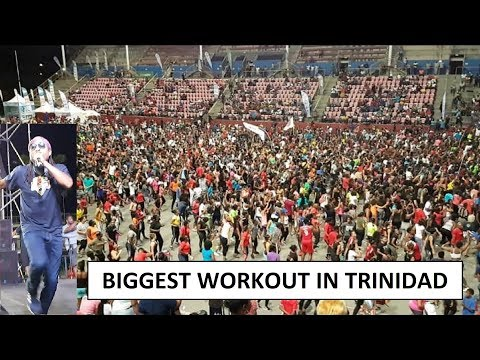 BIGGEST CARNIVAL WORKOUT IN TRINIDAD WITH MACHEL MONTANO | OJO FIT 2019