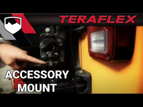 TeraFlex: JK HD Hinged Tire Carrier Accessory Mount