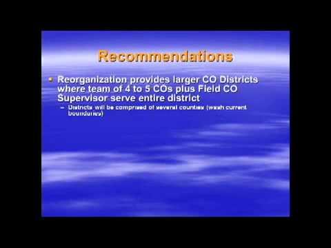 Conservation Officer Reorganization