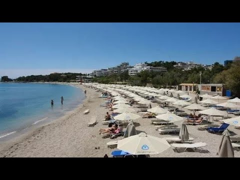 Vouliagmeni Beach Near Athens Greece