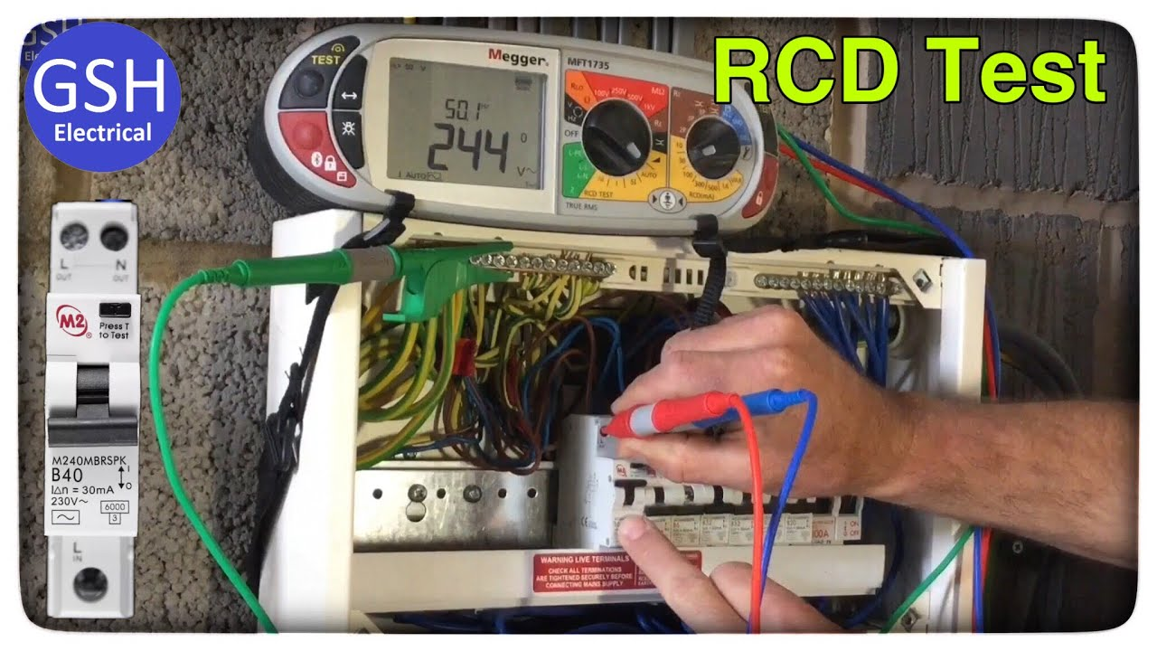 hight resolution of 3 lead rcd test in the consumers unit on rcbos saving time during live testings process gsh electrical