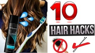 10 Hair Hacks Every Girls Should Know !!! AWESOME LIFE HACKS FOR HAIR!