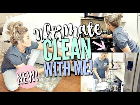 ULTIMATE CLEAN WITH ME   MAJOR CLEANING MOTIVATION with CLEANING MUSIC