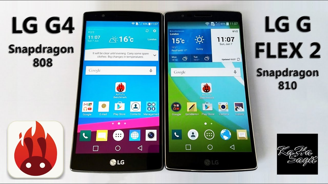 LG G4 Vs LG G FLEX 2 Antutu Benchmark Test
