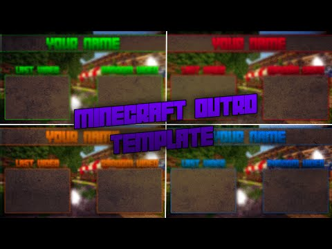 Minecraft Outro Template (Download link In the description)