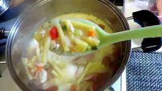 Chicken Sopas ( With Egg And Sausage)