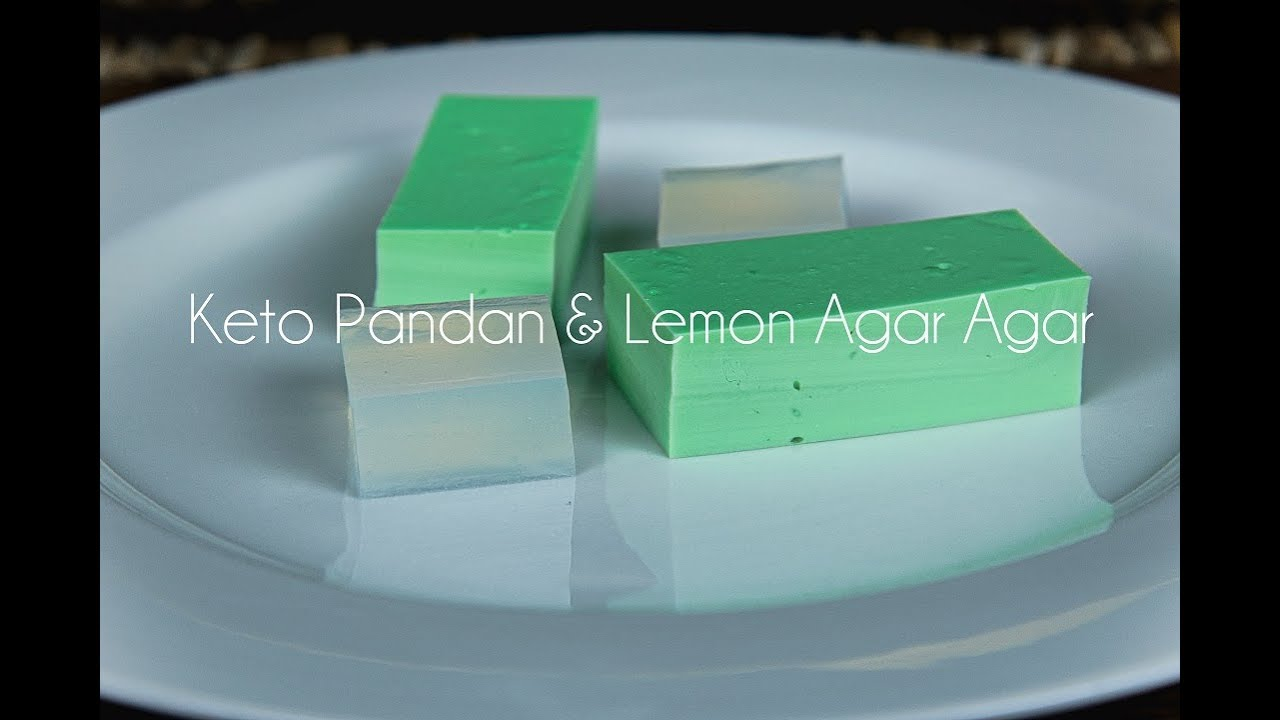 How to make Agar Agar Keto Jelly - Pandan and Lemon flavoured - YouTube